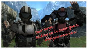 ODST Postcard by Warrior-Silverbolt