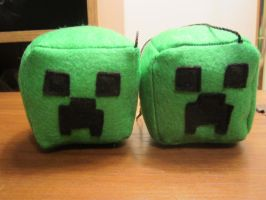 Creeper Minecraft Car Cubes by colbyjackchz