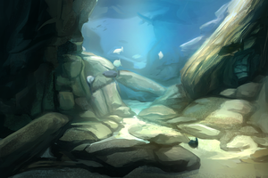 Study underwater fish tank by charfade