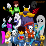 HAPPY BIRTHDAY UNDERTALE by Arteses-Canvas
