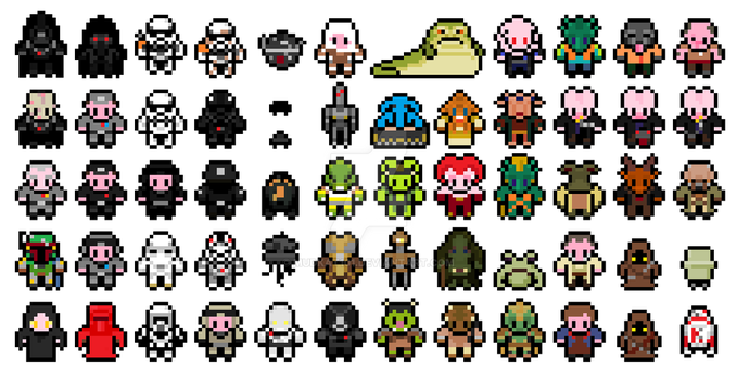 Pix Star Wars Original trilogy sprites PART 2 by mudkat101