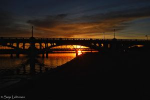 Tempe Lake Sunset by CeeThruMyEyes