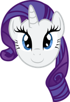 Rarity Face by PaulySentry