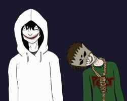 Jeff the Killer and Stretch by Gothalla123