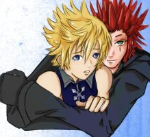 Kingdom Hearts II:Roxas-Axel by Lady-Anya