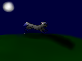 running in the moon light by scatteredSparks