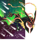 Shiny Mega Rayquaza Appears! by ECrystalica