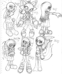 Character Sheet - Girls by nailthehedgehog