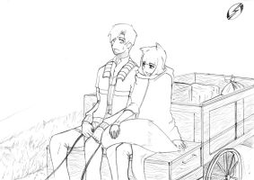 Spice and Wolf - On the road by MrSteph06220