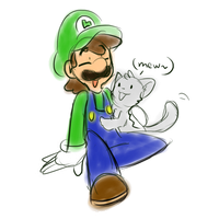 luigi's cat by MariobrosYaoiFan12