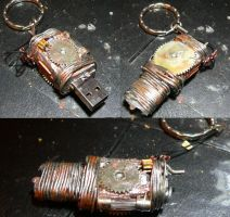 Steampunk or scrapyard USB by Nerd-Rage