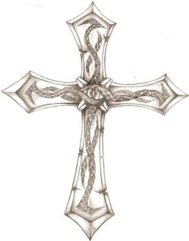 Crucifix Tattoo design 1 by iconoclastic-beleifs