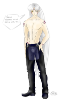 Sesshoumaru Wears Chaps by virtualpapercut