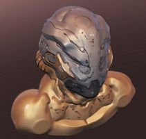 Sculptris Test: Cyborg head. by IgnusDei