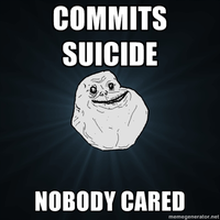 forever alone meme by HaloneWolf