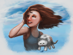 Girl with Cat by EricDaNerd