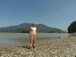Island on the Fraser river 8/9/2014 ~10 by x-Mathias