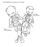 HTF RESIDENT EVIL 6 Flippy and Evil Fliqpy[Draft] by KickTyan