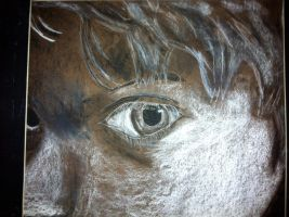 Close Up Self Portrait-Charcoal by pika247