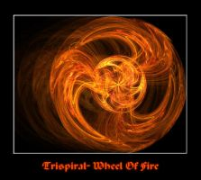 Trispiral- Wheel of Fire by FlipWardDragon