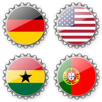 Bottlecaps FIFA Worldcup 2014 - Group G by mondspeer