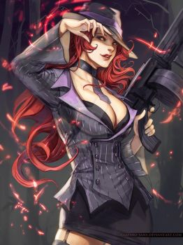 Mafia Miss Fortune by Claparo-Sans