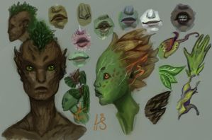 Sylvari Concepts 3 by kedemel