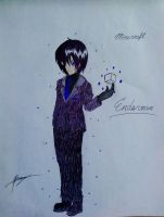 Minecraft Enderman anime version by UnitInfinity