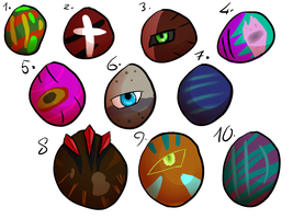 Egg Adopt Sheet #5 (open)-15 points each- by XTwilight-SerenityX