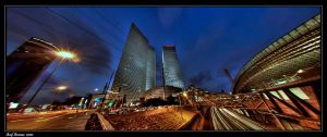 Azrieli Towers - Panorama by amassaf