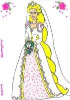 Bride Rapunzel by AnneMarie1986