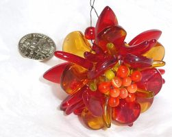 Beaded flame flower, angle 2 by wombat1138