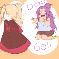 Dont go! D: by BayneezOne