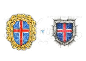 Medieval crest and shield by dfmurcia