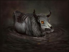 Sketchpaint Zombie Cow by jezebel
