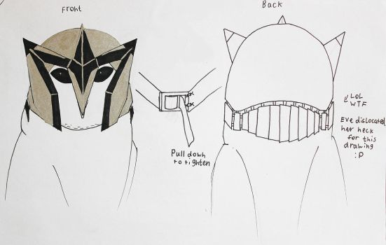 Eve's helmet design by CommanderEVE