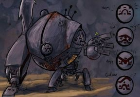 Exaviar Tinman: iron golem by DoodlesandDaydreams