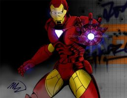 Iron Man Repulsor Blast by mtran264