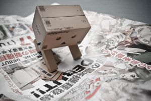 Danbo and the amusement park flyer by Askarys