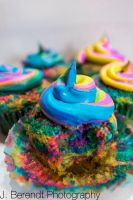 Unicorn Cupcakes by MermaidHyli
