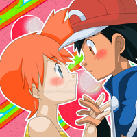 Ash Y Misty Copia by AzulTG