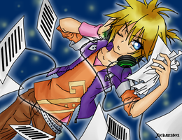 REcolored lineart - Len by Akeudi
