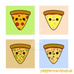 Yummy pizza illustrations by peppermint-pop-uk