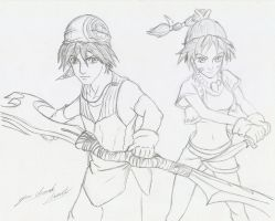 Serge and Kid (Chrono Cross) by davidlatorre
