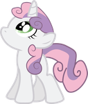 Sweetie Belle Looking Up by Creshosk