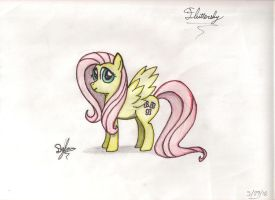 Fluttershy (Sketch) by I-TwistedFury-I