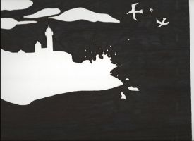 Nubble Light Negative Space by kenchinblade
