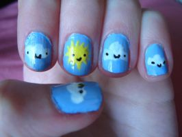 Brighter than the sun nails by ChloeCat3
