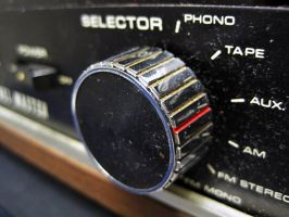 Dusty Old Stereo Knob by ArtmasterRich
