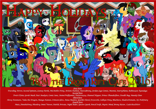 Brony Rift Cafe 2016 Holiday Card by Jordan-da-Lego-Brony